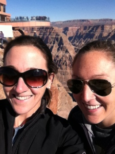 Standing on the edge of the West Rim